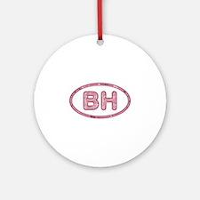 BH Pink Round Ornament