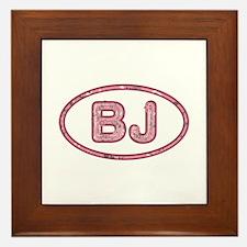 BJ Pink Framed Tile