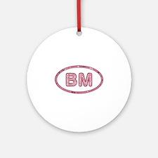 BM Pink Round Ornament