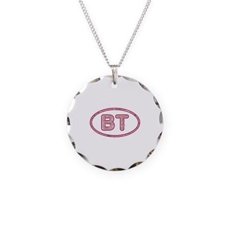 BT Pink Necklace Circle Charm