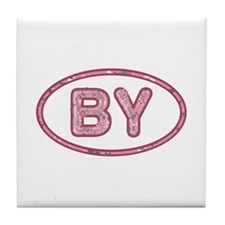 BY Pink Tile Coaster