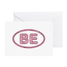 BE Pink Greeting Card