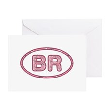BR Pink Greeting Card