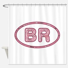 BR Pink Shower Curtain