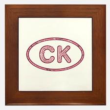 CK Pink Framed Tile