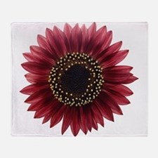 Ruby sunflower Throw Blanket