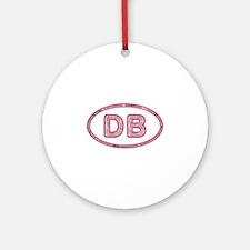 DB Pink Round Ornament