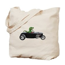 T-rex Hot Rod Tote Bag