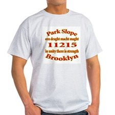 Park Slope Zip Code Ash Grey T-Shirt
