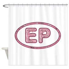EP Pink Shower Curtain