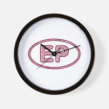 EP Pink Wall Clock