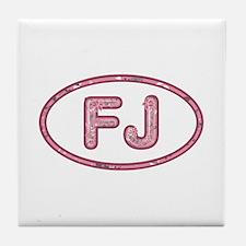 FJ Pink Tile Coaster