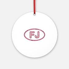 FJ Pink Round Ornament