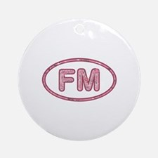 FM Pink Round Ornament