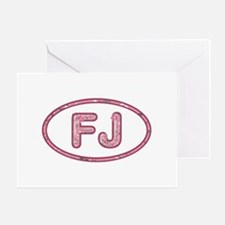 FJ Pink Greeting Card