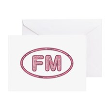 FM Pink Greeting Card