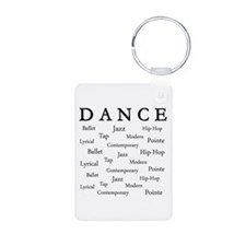 Dance Words Keychains