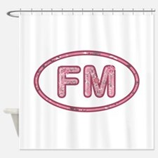 FM Pink Shower Curtain