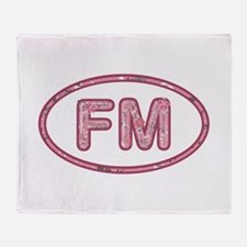 FM Pink Throw Blanket