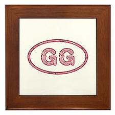 GG Pink Framed Tile