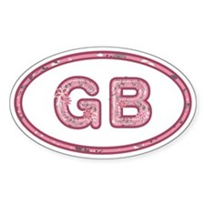 GB Pink Oval Sticker 10 Pack