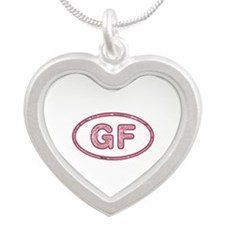 GF Pink Silver Heart Necklace