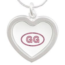 GG Pink Silver Heart Necklace