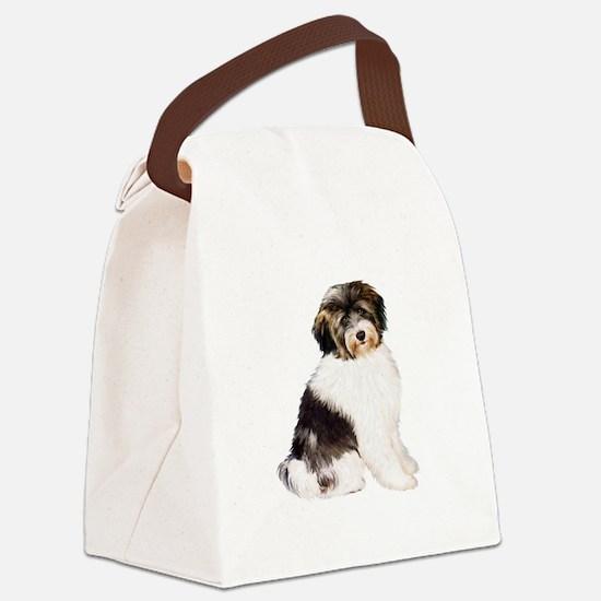 Tibetan Terrier (W) Canvas Lunch Bag
