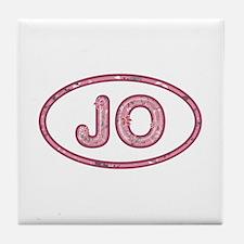 JO Pink Tile Coaster