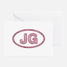 JG Pink Greeting Card 20 Pack
