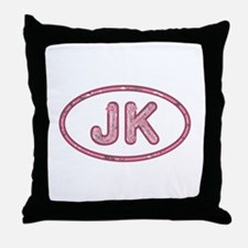 JK Pink Throw Pillow