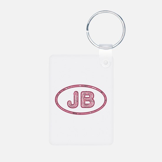 JB Pink Aluminum Keychain