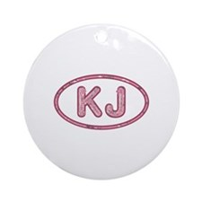 KJ Pink Round Ornament
