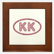 KK Pink Framed Tile
