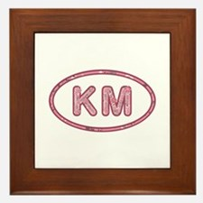 KM Pink Framed Tile