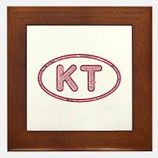 KT Pink Framed Tile