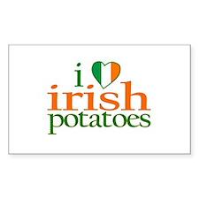 I Love Irish Potatoes Rectangle Decal