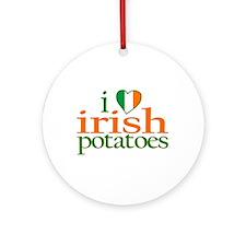 I Love Irish Potatoes Ornament (Round)
