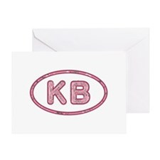 KB Pink Greeting Card