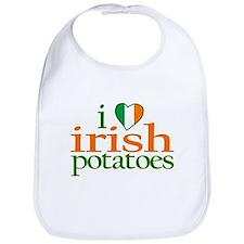 I Love Irish Potatoes Bib