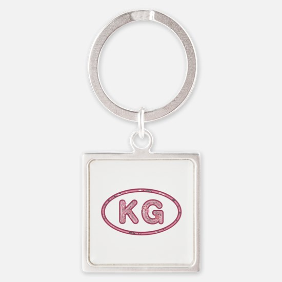 KG Pink Square Keychain