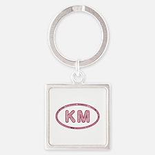 KM Pink Square Keychain