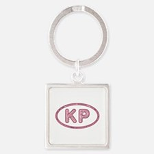 KP Pink Square Keychain