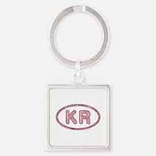 KR Pink Square Keychain