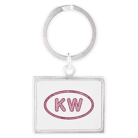 KW Pink Landscape Keychain