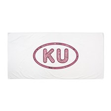 KU Pink Beach Towel