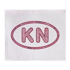 KN Pink Throw Blanket