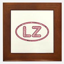 LZ Pink Framed Tile