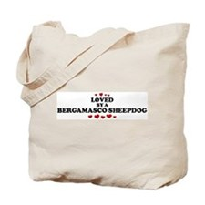 Loved: Bergamasco Sheepdog Tote Bag