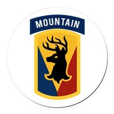 86th Infantry BCT Round Car Magnet